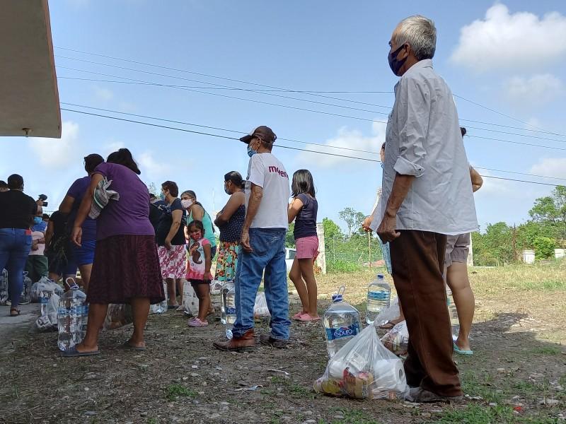 Tuxpeños se solidarizan con los más afectados por Grace