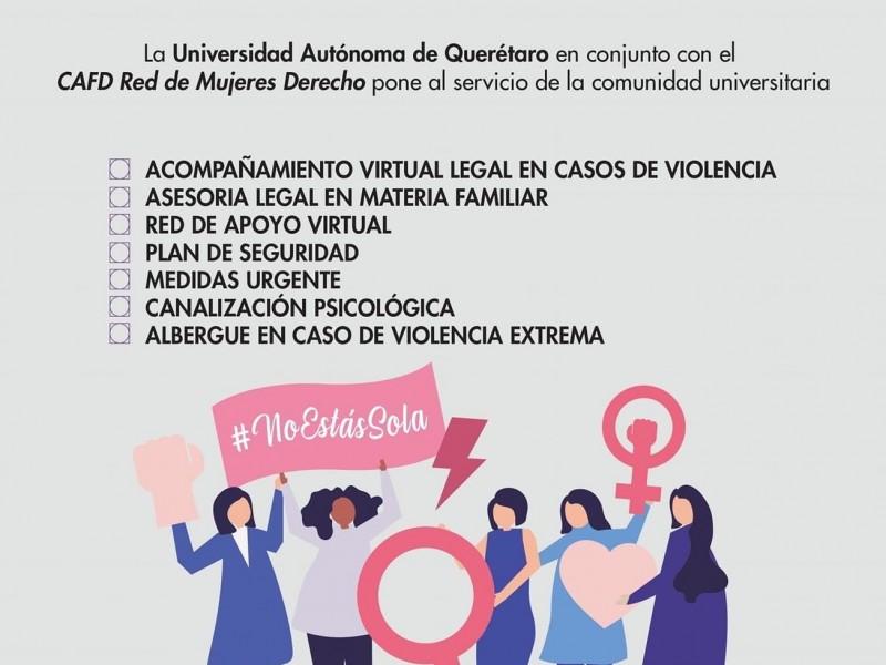 """UAQ lanza campaña """"Red de Acompañamiento en Contingencia"""" para mujeres"""