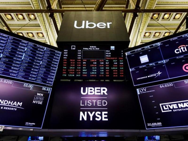 Uber arranca en bolsa con pérdidas