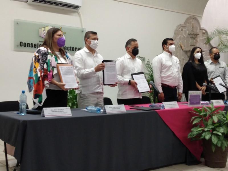 UIF e IEEN firman convenio anticorrupción para proceso electoral
