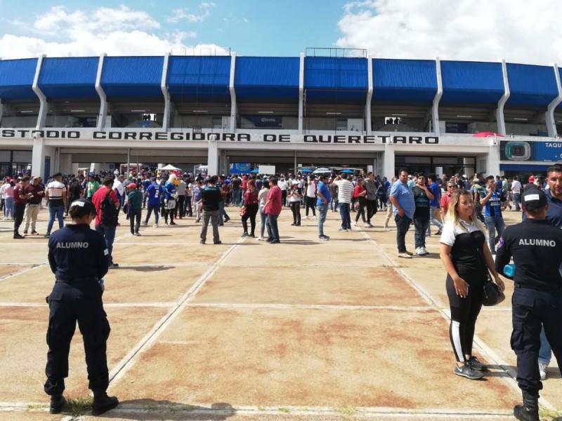 Ultimo dia de vacunación del Estadios Corregidora