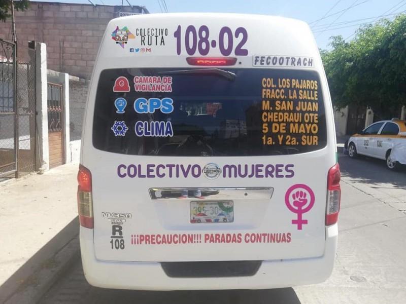 Unidades de ruta 108 exclusivas para mujeres