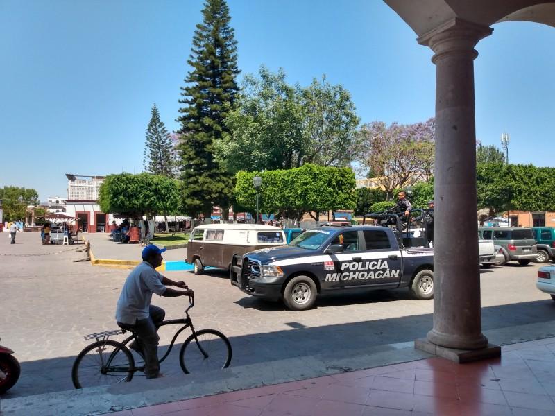 Unidades de seguridad publica realizan perifoneo en Jiquilpan