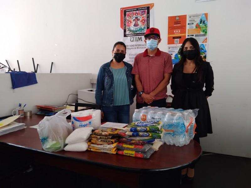 Universidad Intercultural instala centro de acopio para damnificados de Tacuro