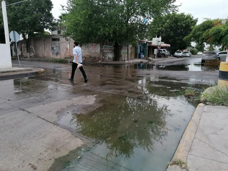Urgen atención a laguna de aguas negras en sector Estrella