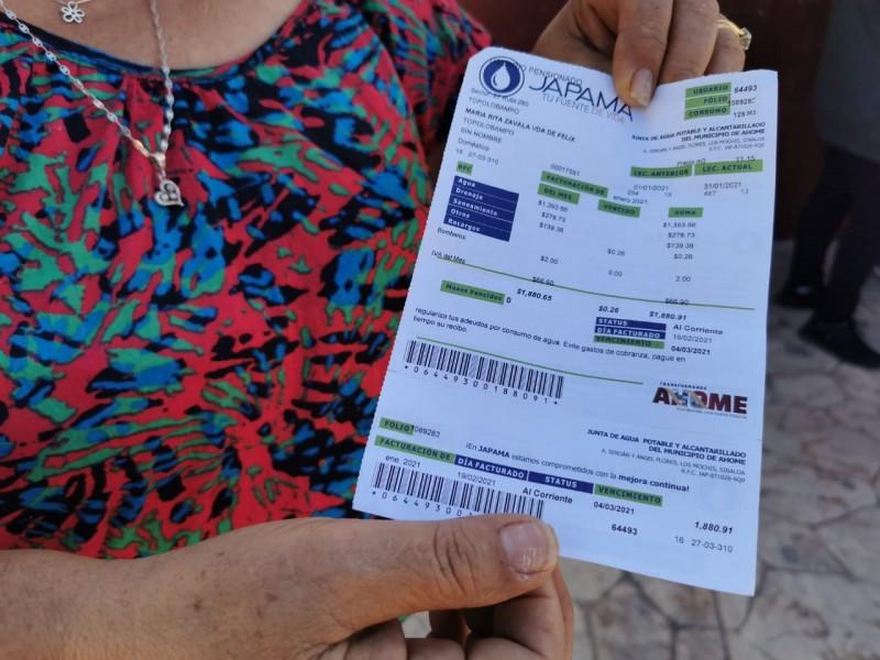 Usuarios de JAPAMA explotan contra la Paramunicipal ante cobros abusivos