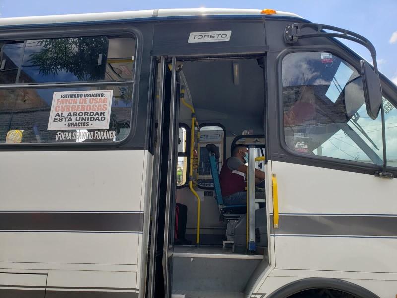 Usuarios del transporte público exigen extremar medidas preventivas ante covid-19