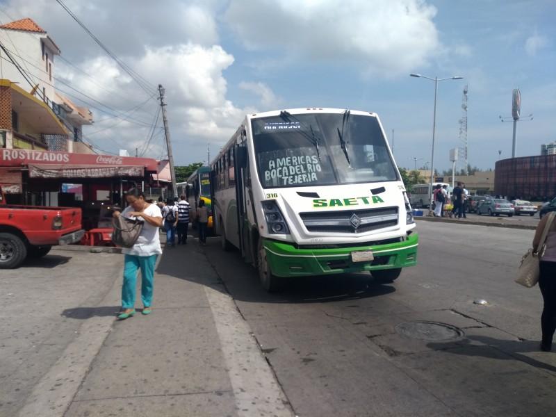 Usuarios reportan incremento en camiones Saeta