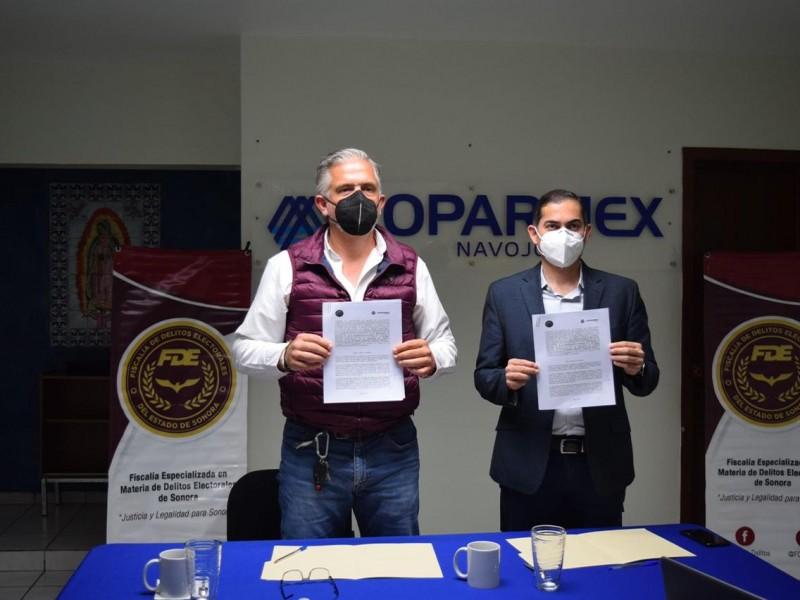 Va COPARMEX Navojoa contra Delitos Electorales en Sonora