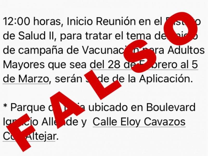 Vacuna antiCOVID no se aplicará este domingo en SCLC