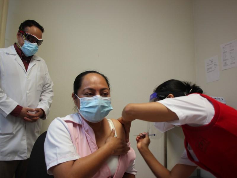 Vacunación en Chiapas se encuentra en un 41 por ciento
