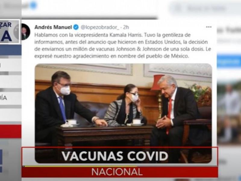 Vacunas que enviará EE.UU serán aplicadas en frontera: AMLO