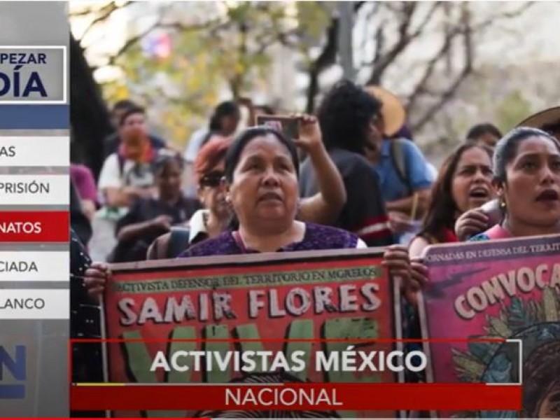 Van 56 activistas asesinados en la presente administración