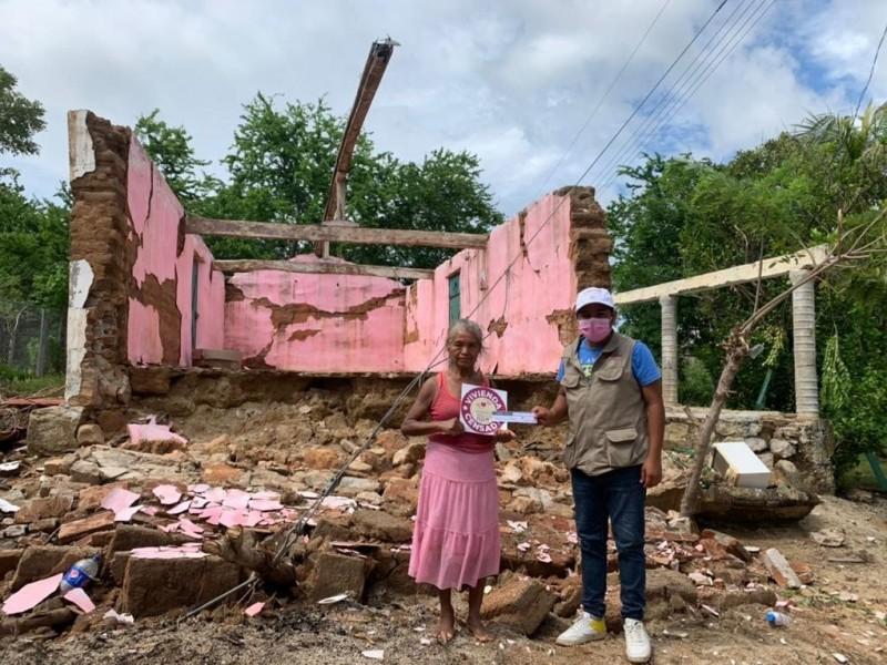 Van más de 5 mil viviendas censadas por daños