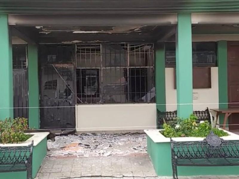 Vandalizan comisaria municipal de San Antonio de la Cal