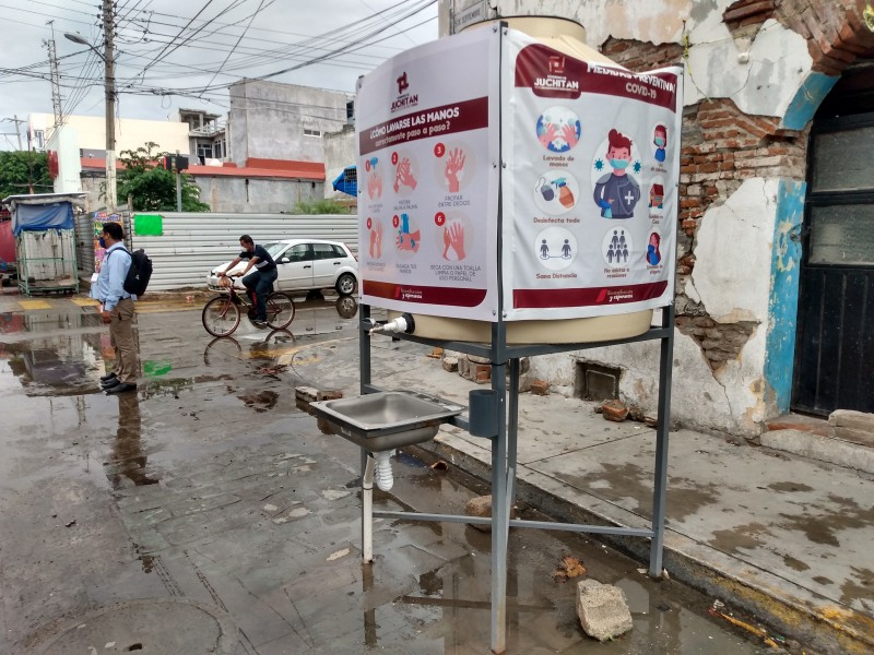 Vandalizan los puntos de sanitización en Juchitán