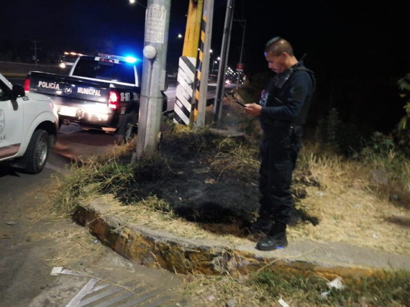 Vandalizan postes del c5 en Zona Metropolitana