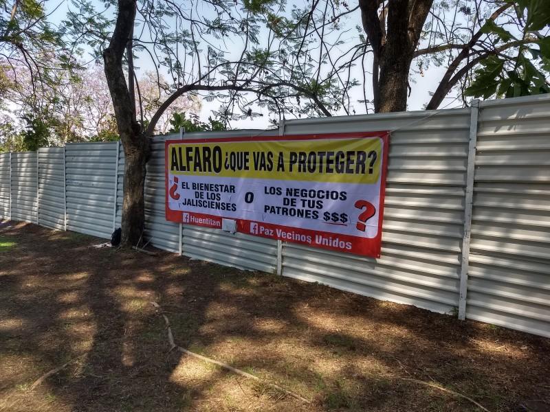 Vecinos advierten parar obras de Arena Guadalajara