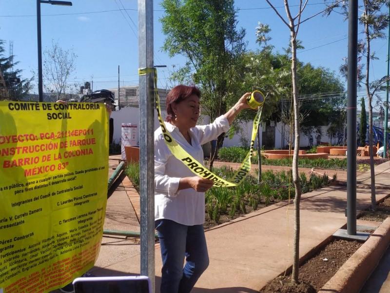Vecinos clausuran obra de SEDATU en la colonia México 83