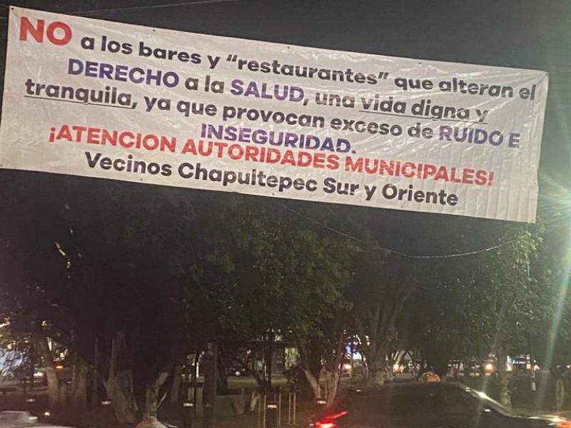 Vecinos de colonias Chapultepec exigen cierre de bares