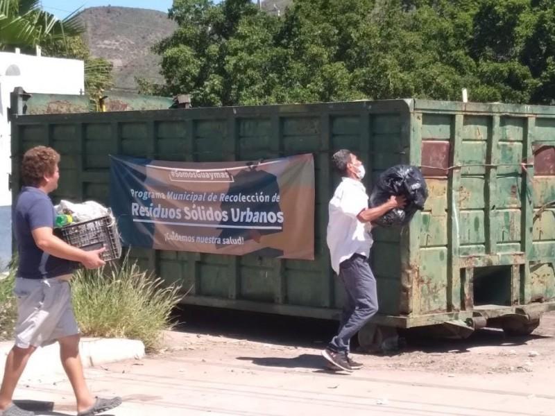 Vecinos de Fátima llenan los contenedores por rezago en basura