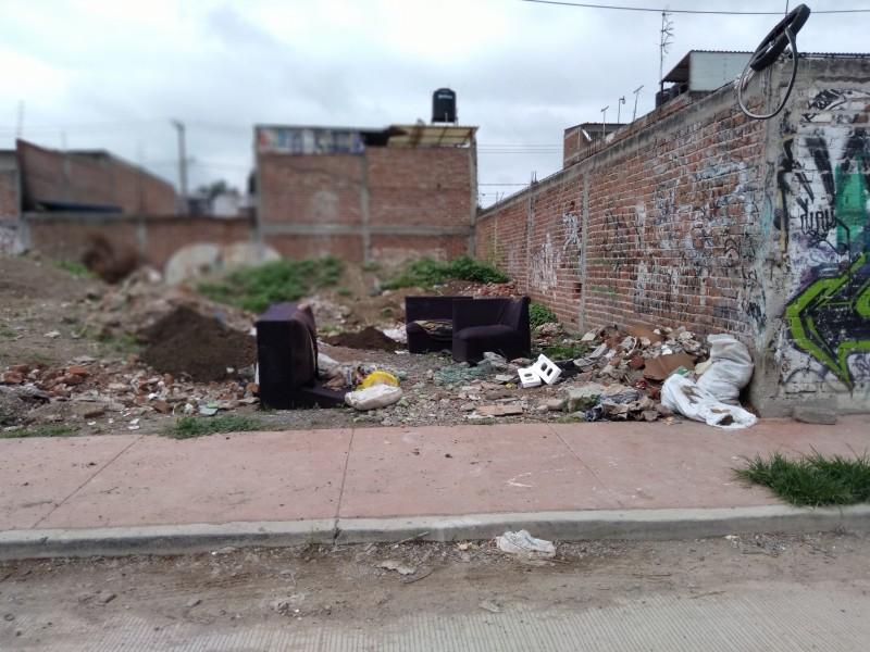 Vecinos reportan acumulación de basura