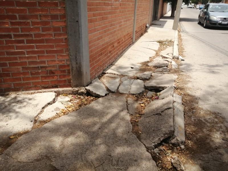 Vecinos reportan pavimento dañado en la Martinica