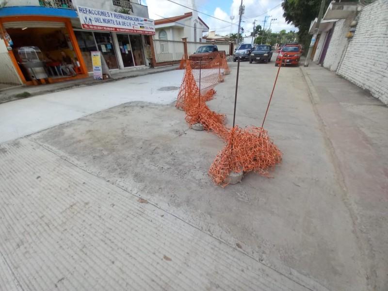 Vecinos se imponen vigilando obra en Tuxpan
