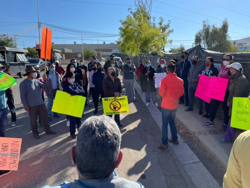 Vecinos se oponen a la construcción de gasolinera