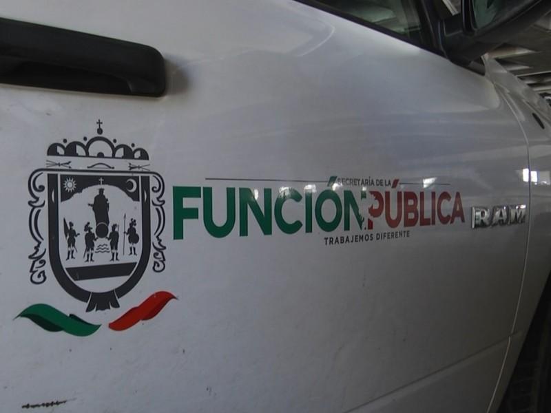 Vehículos oficiales son utilizados para uso personal