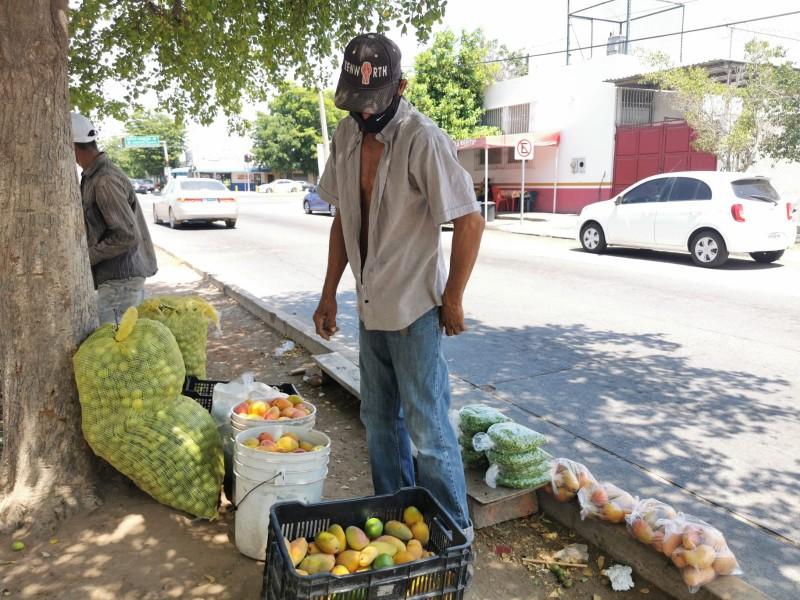 Vendedores ambulantes trabajan bajo el sol y expuestos al coronavirus