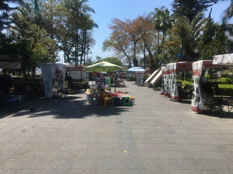 Vendedores del Parque Juárez duramente afectados por covid-19
