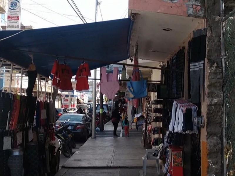 Ventas de comerciantes sahuayeneses afectadas por contingencia