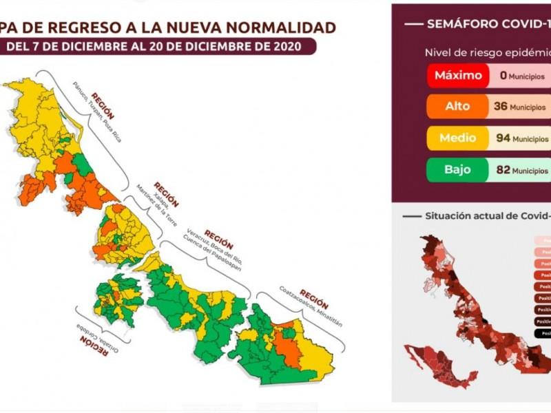 Veracruz en Semáforo Verde, pese a incremento de contagios