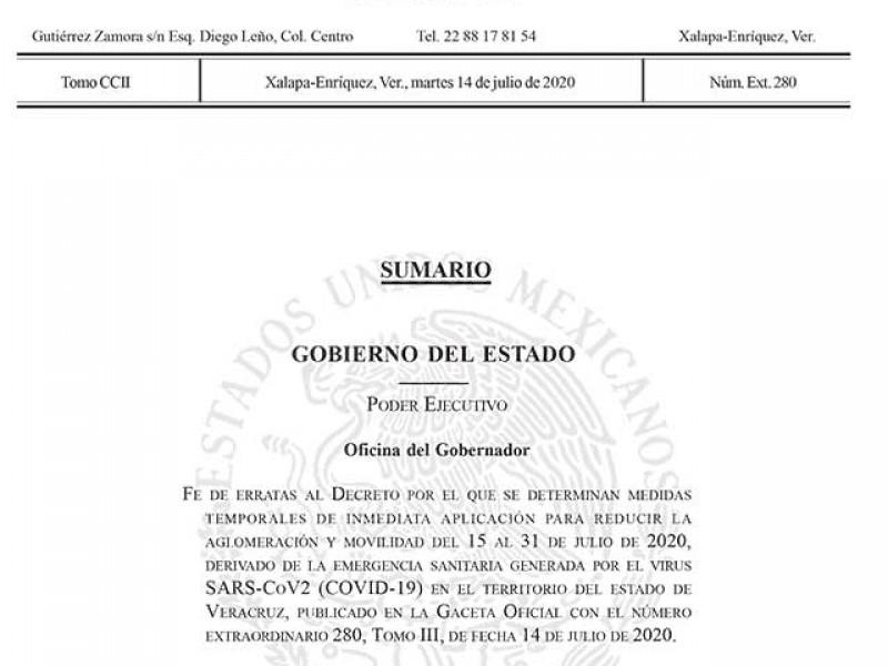 Municipio de Veracruz es incluido en Decreto Oficial