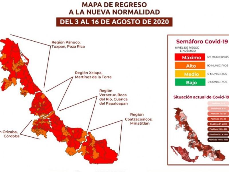 Veracruz permanecerá en Semáforo Rojo durante dos semanas más