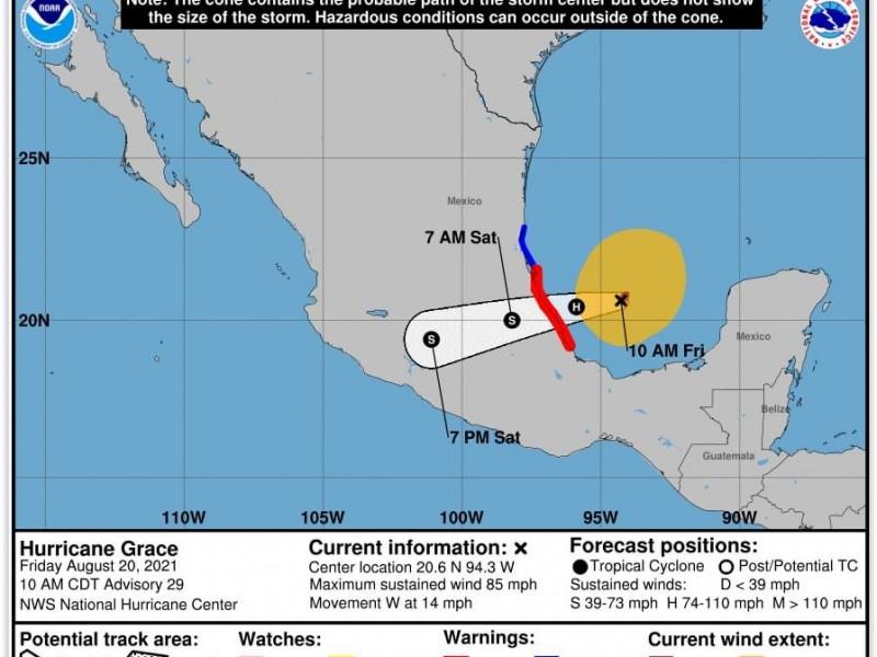 Veracruz solicita declaratoria de emergencia ante inminencia del huracán Grace