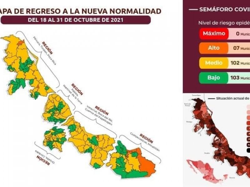 Veracruz y Boca del Río pasan al semáforo amarillo