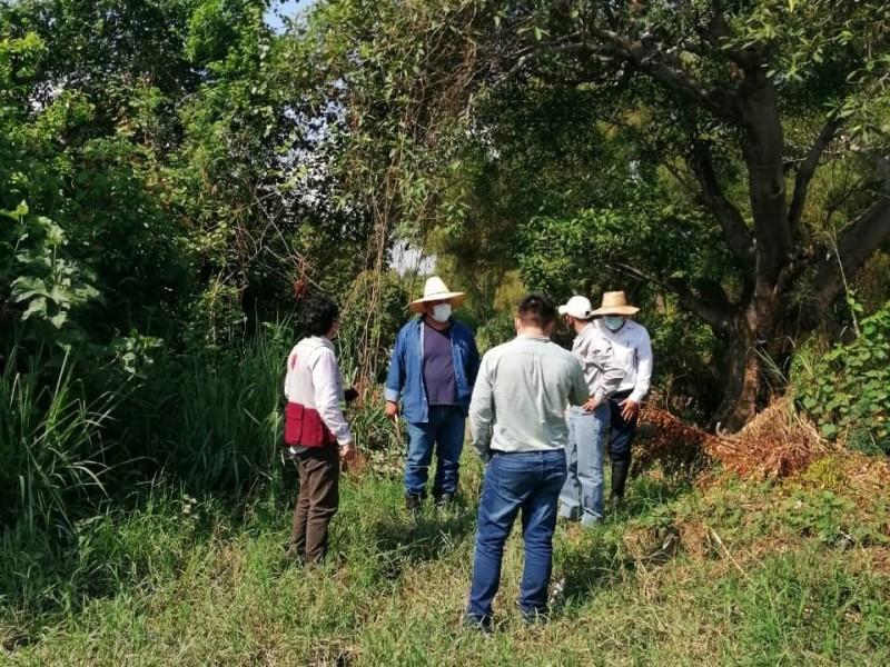 Verifican daños en muro de contención del Río Cazones