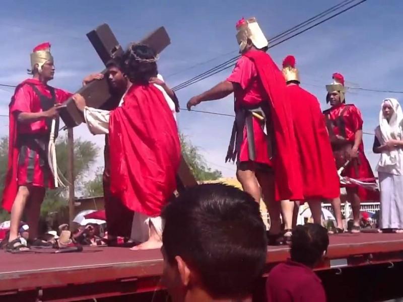 Viacrucis de Juárez Durango a punto de desaparecer