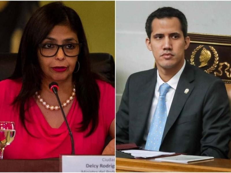 Vicepresidenta venezolana Delcy Rodríguez amenaza a Guaidó