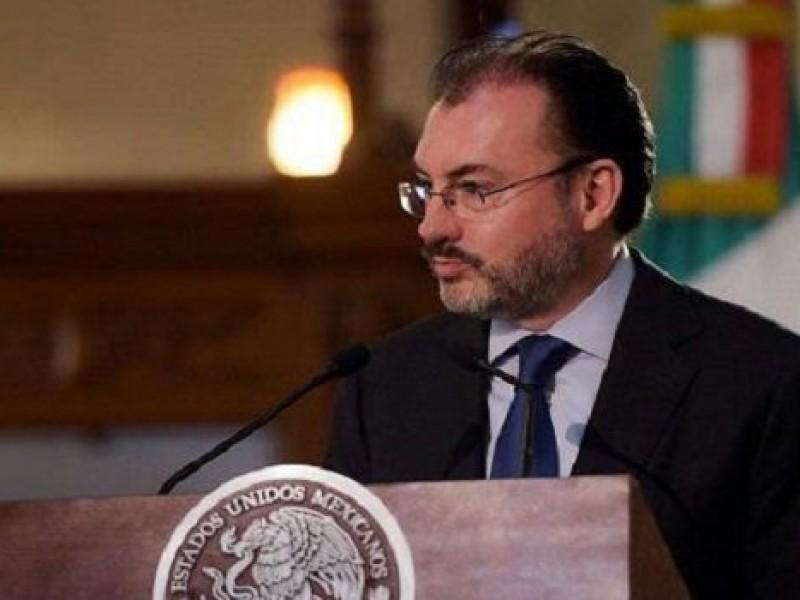 Videgaray dialoga sobre respeto a migrantes