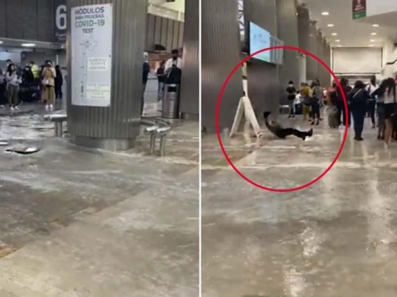 Video: Se inunda el Aeropuerto Internacional de la CDMX