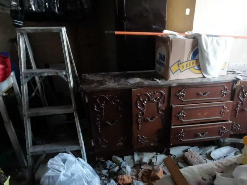Viento arranca techo en vivienda de adultos mayores