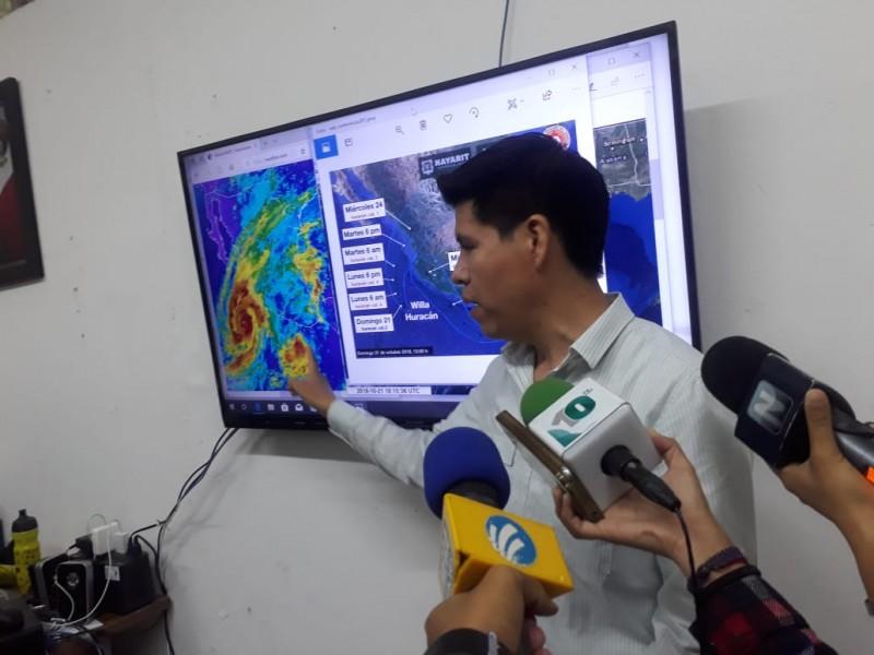 Vigila Protección Civil de Nayarit avance de Willa