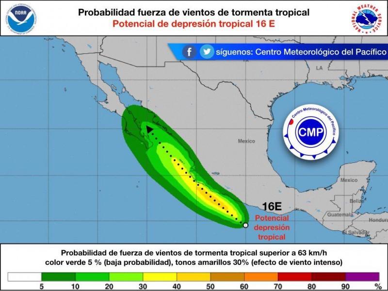 Vigilan autoridades formación de Ciclón tropical E 16
