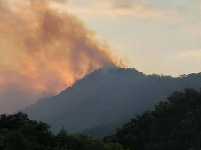 Villa Corzo afectado por incendio forestal