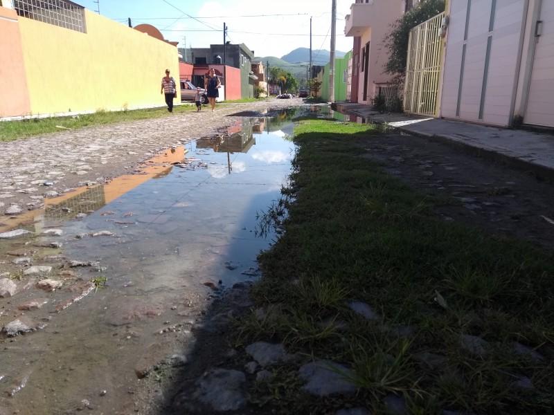 Villas del Nayar reporta fuga de aguas negras