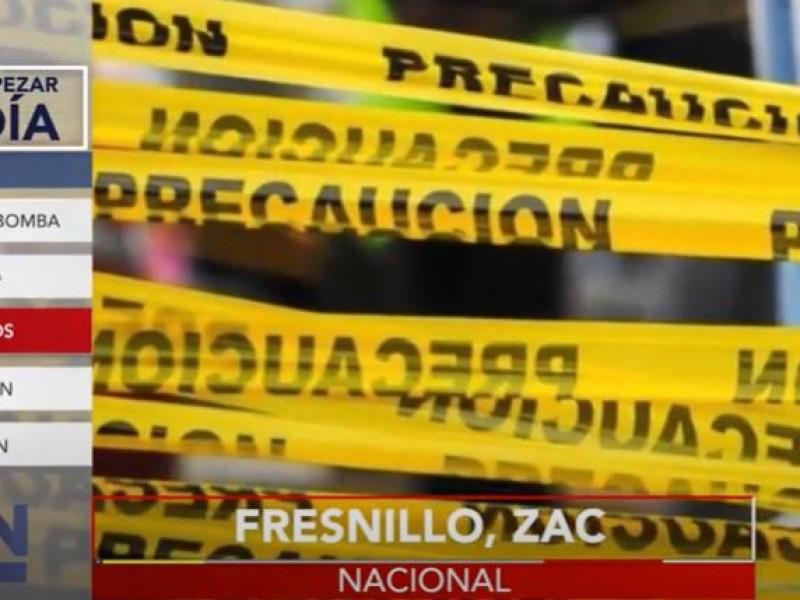 Violencia deja 9 asesinatos en Fresnillo, Zacatecas