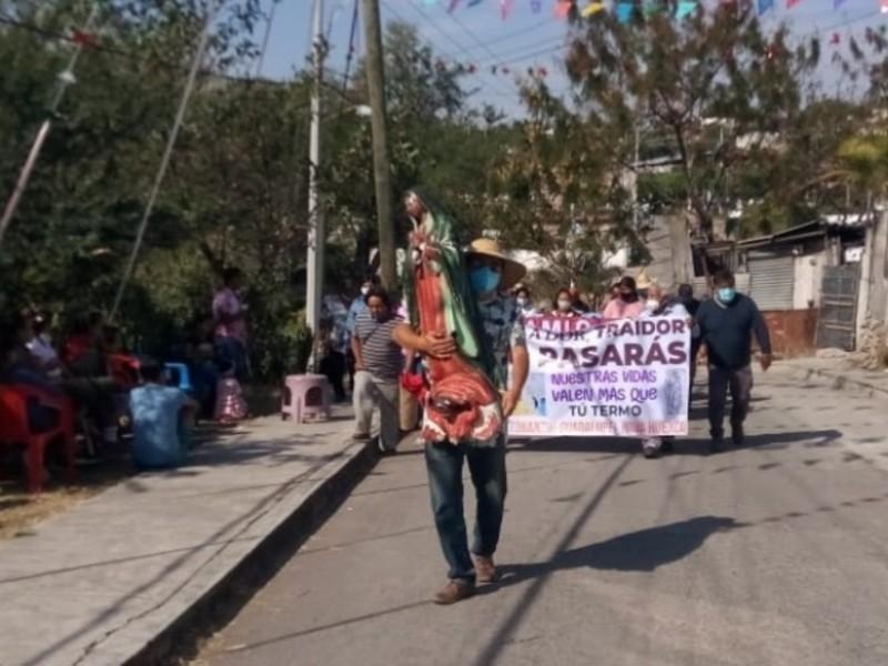 """Virgen de Guadalupe """"encabeza"""" marcha contra Proyecto Integral Morelos"""